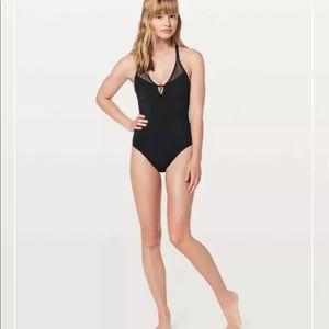 Lululemon size 4 bathing suit black